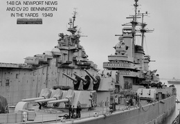 USS Newport News (CA-148) at Newport News Shipbuilding and DD - 1949